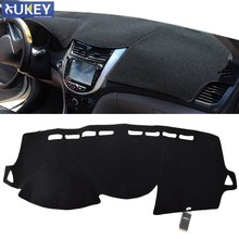 Чехол Xukey для приборной панели, коврик для приборной панели, Солнцезащитный коврик, чехол для приборной панели, подходит для Hyundai Solaris Accent Verna ...