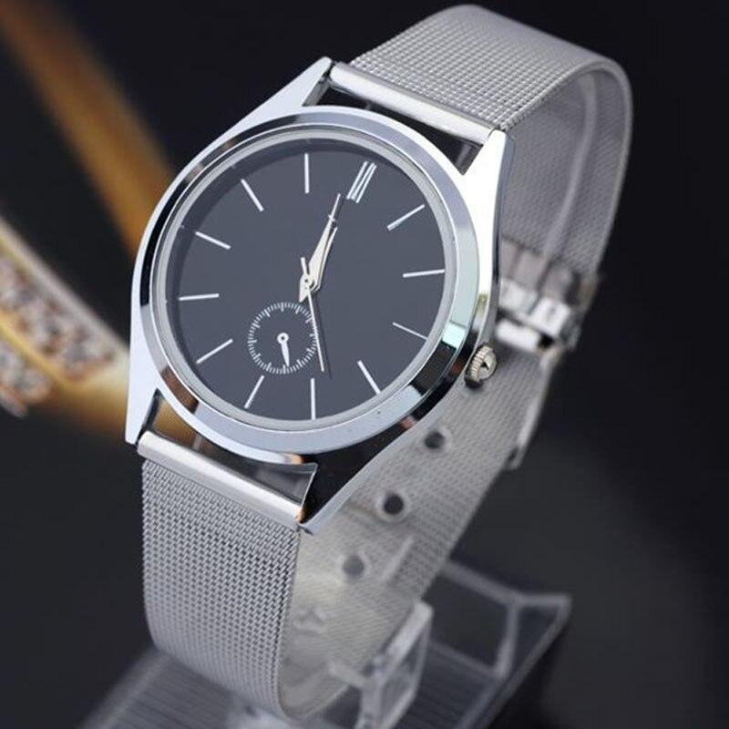 384cf2670 Marca de luxo Mens Watch 2018 Moda Wathes Horas Homens de Aço Inoxidável  Analógico de Pulso de Quartzo Das Senhoras Relógios Relogio Reloj