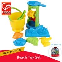 HAPE 9PCS/Set Children Beach Toys Kids Play Sand Plastic Buckets Rakes Shovels Wheel Watering Garden Summer Seaside Toy Gift