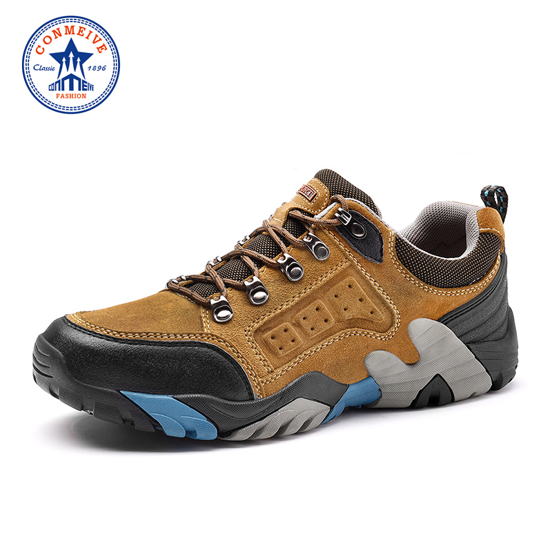 Limited Winter Outdoor Hiking Shoes Men Slip-on Boots Trekking Genuine Leather Climbing for Mens Warm Sneakers Sport Hunting kerzer outdoor shoes men autumn winter hiking boots slip on trekking shoes leather mountain climbing sneakers