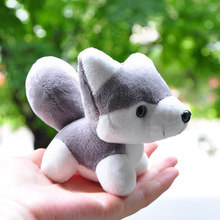 10cm Super Cute Husky Dog Plush Stuffed Animal Toys Doll Bag Pendant Doggie Keychain Plush Toys Pendants Craft Gifts ZM