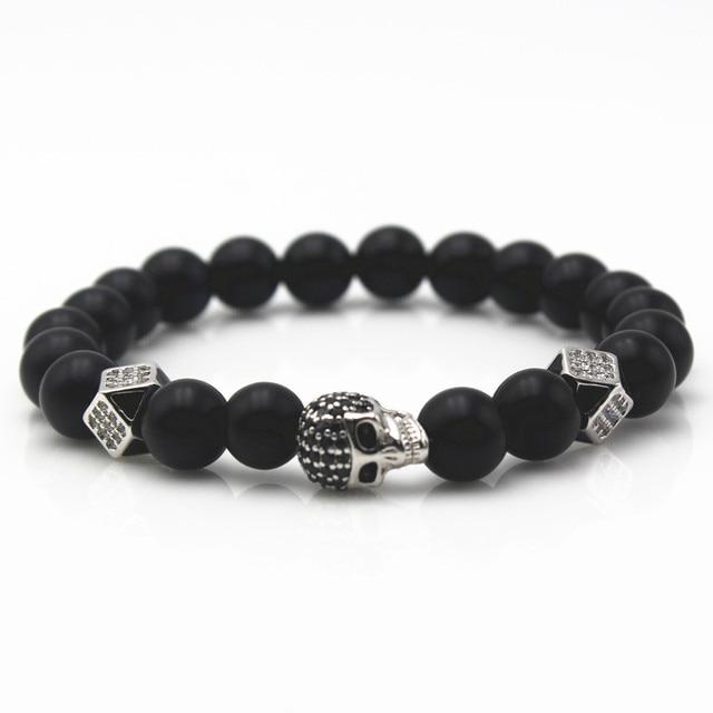 Northskull beaded bracelet - Black VULwuOlV9