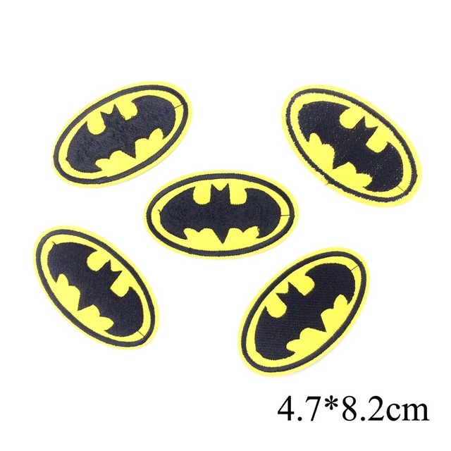 ca227331095e Batman Logo Patch Embroidery Iron On Patches For Clothing Iron On Stickers  For Clothes Appliques For Garment DIY Sewing Badges