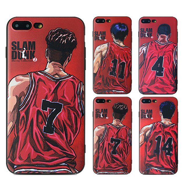 fashion design slam dunk series phone case for iphone 6 6s 6 plus 6sfashion design slam dunk series phone case for iphone 6 6s 6 plus 6s plus 7 7 plus painted black frosted tpu soft silicone cover