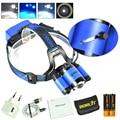 Boruit Fishing 8000LM XM-L2+2XXPE Blue LED Headlamp USB 4Modes Headlight Full Set In Package