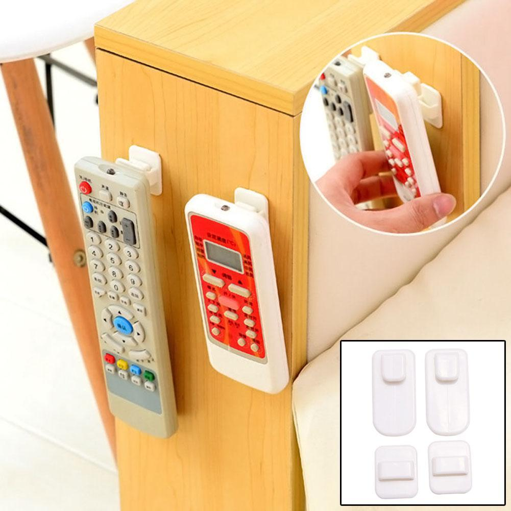 ABS TV Remote Control Organizer Storage Stand Holder Hooks Strong Hanger Hot PJW
