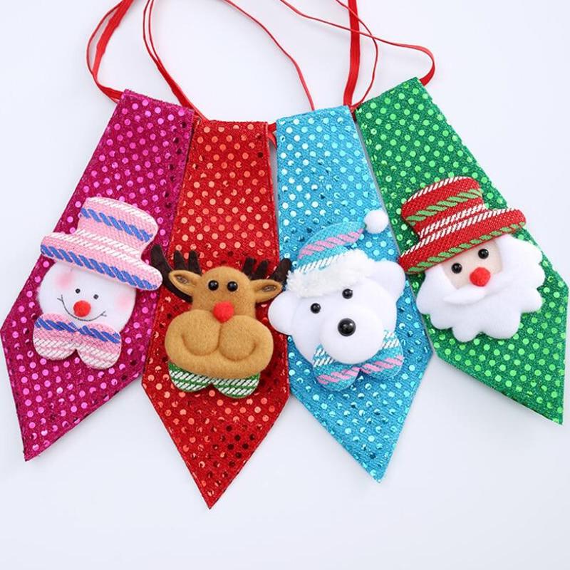 RBOCOTT Christmas Tie Boy Novelty Ties For Kids Children Santa Claus Snowman Necktie For Festival Gift Party Dance Decoration