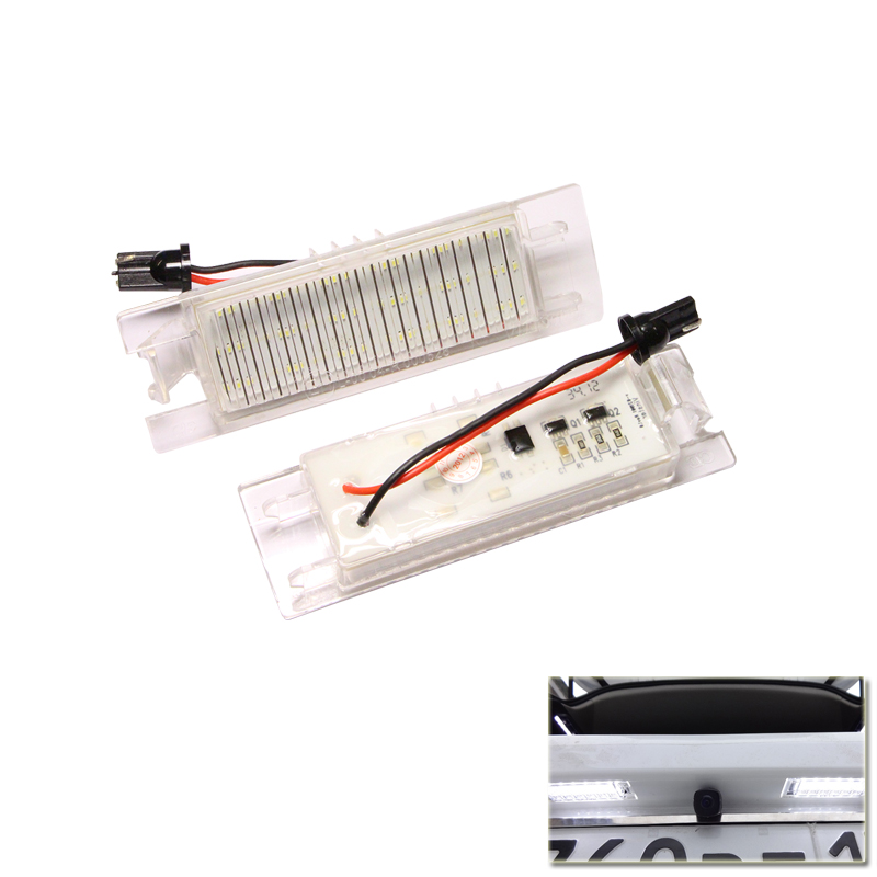 1SET SMD Number Plate Lamp LED Kit Error Free For OPEL Zafira B Astra H Corsa D Insignia LED License Plate Light 2pcs led number license plate light 12v white smd led canbus lamp bulb car styling for opel astra g corsa a b vectra b tigra
