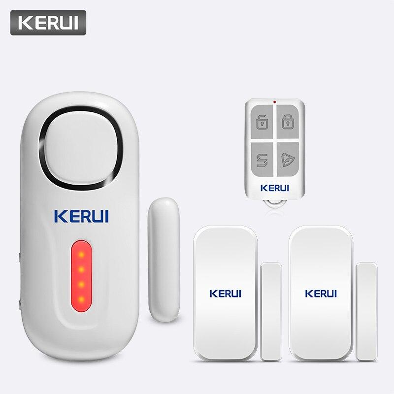 KERUI 120dB Wireless PIR Door Window Burglar Alert Sensor Home Security Arm Disarm Anti-Theft Alarm System With Remote Control