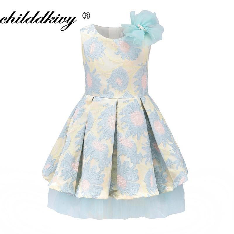 ChildDkivy Baby   Girl   Princess   Dress   3-12 Years Kids Autumn   Dresses   for Toddler   Girls   Children Party Clothing   Flower     Girl     Dress