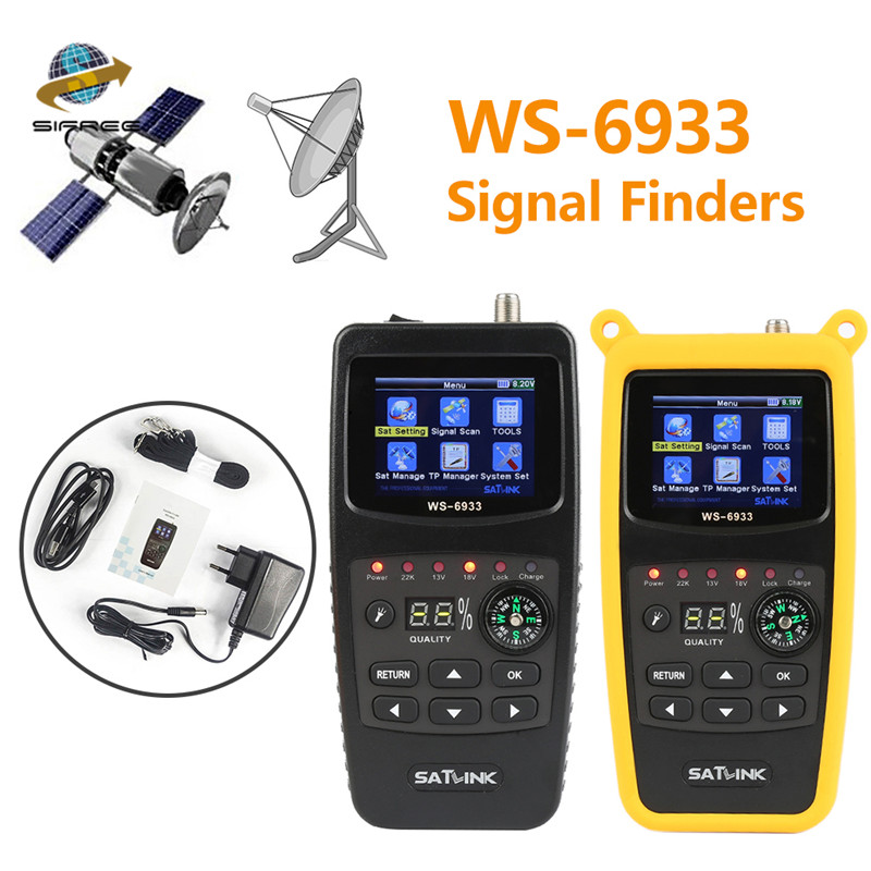 Original Satlink WS-6933 Satellite Finder DVB-S2 FTA C KU Band Digital Satellite Finder Meter with 2.1 Inch LCD Display satlink ws6908 [genuine] satlink ws 6908 3 5 dvb s fta digital satellite meter satellite finder ws 6908 free shipping