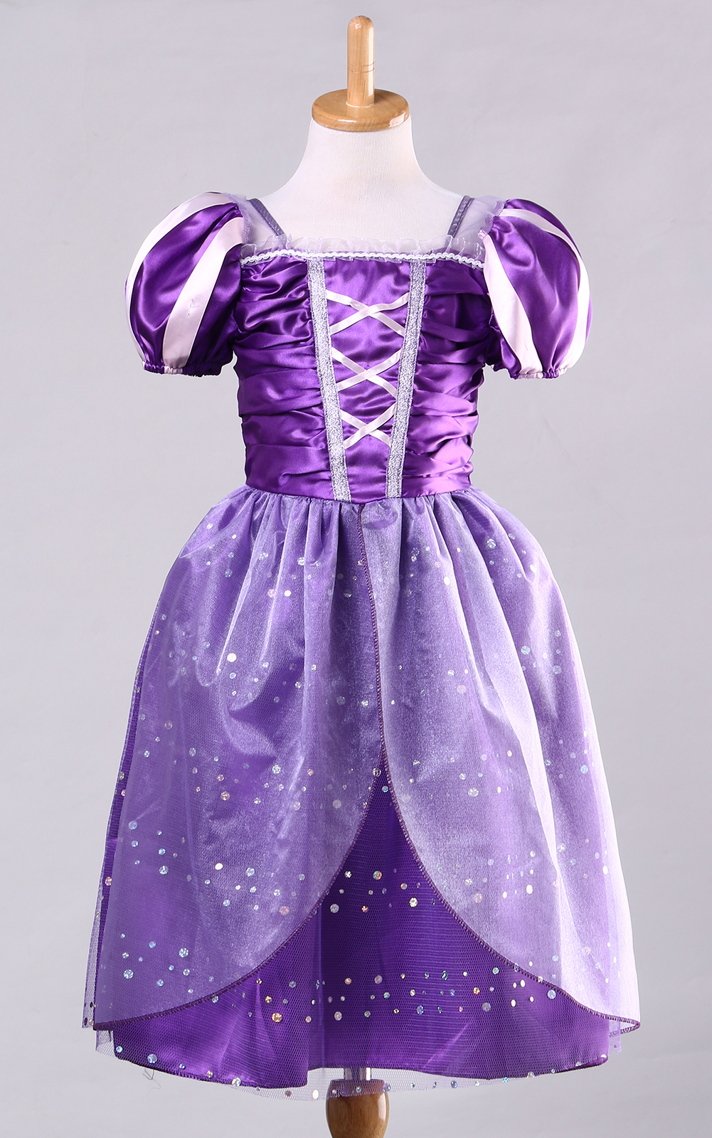 Kids Rapunzel Princess Fancy Tutu Dress Girl Halloween Cosplay ...