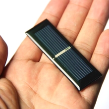BUHESHUI Mini 0 125W 0 5V Bolycrystalline Solar Cell Module DIY Solar Panel Charger System Battery