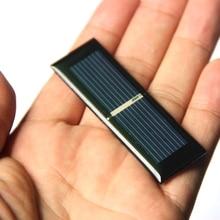 BUHESHUI Mini 0.125W 0.5V Bolycrystalline Solar Cell Module DIY Solar Panel Charger System Battery Education 65*20MM Epoxy 10Pcs