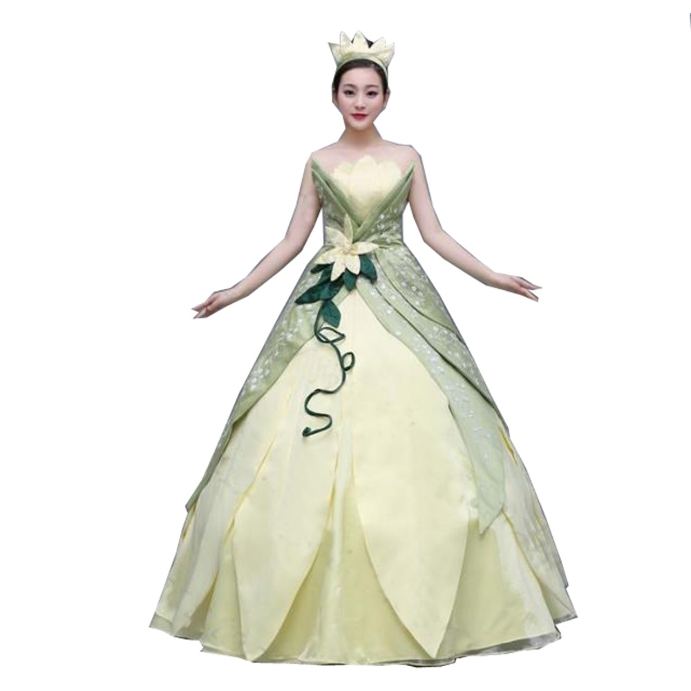 Princess Tiana Dress: 2017 Tiana Cosplay Costume (Princess Dress) From The