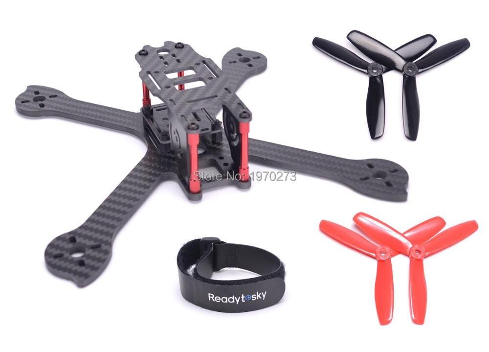 iX5 210 210mm Carbon Fiber Frame Kit + 5045 3 blades Propeller for 200 FPV racing droneiX5 210 210mm Carbon Fiber Frame Kit + 5045 3 blades Propeller for 200 FPV racing drone