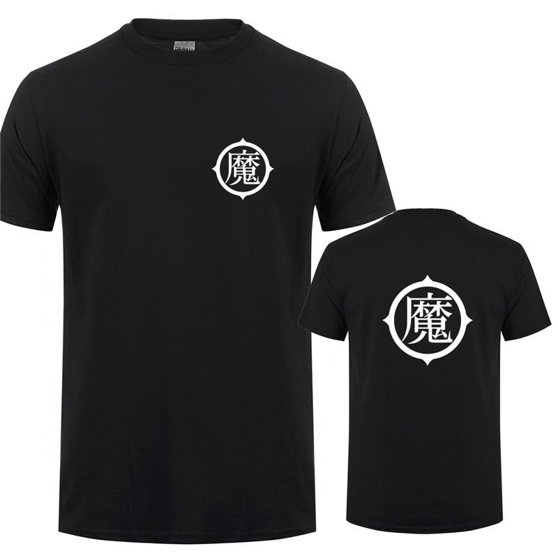 Piccolo T Shirts Dragon Ball Son Gohan T Shirt Men New Fashion Cotton Short Sleeve O-neck Piccolo Logo T-shirt Tops OT-307 bts v warriors jacket