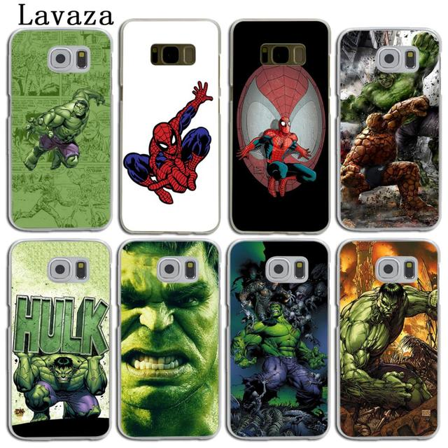 online store 5fabf 5e7f4 US $1.99 22% OFF|Lavaza Spider Man Marvel Hulk Hard Skin Phone Shell Case  for Samsung Galaxy S10 E S8 S9 Plus S6 S7 Edge S10E Back Cover-in ...