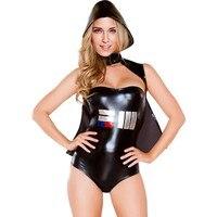 Monos mujeres mameluco 2016 peluches body lingerie espacio galáctico adultos traje de halloween mujeres cosplay sexy clubwear SA8979