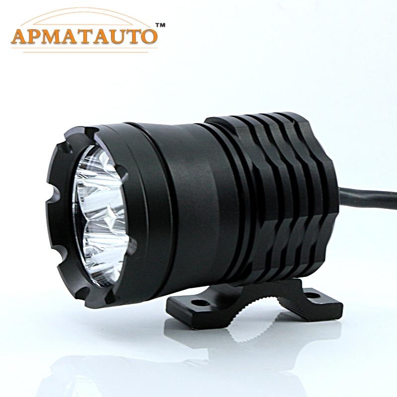 1X 60W White 6000K 4800LM With CREE Chips LED Motorcycle Headlight Fog Spot HeadLamp Spotlight Waterproof Motorbike Bulb Moto