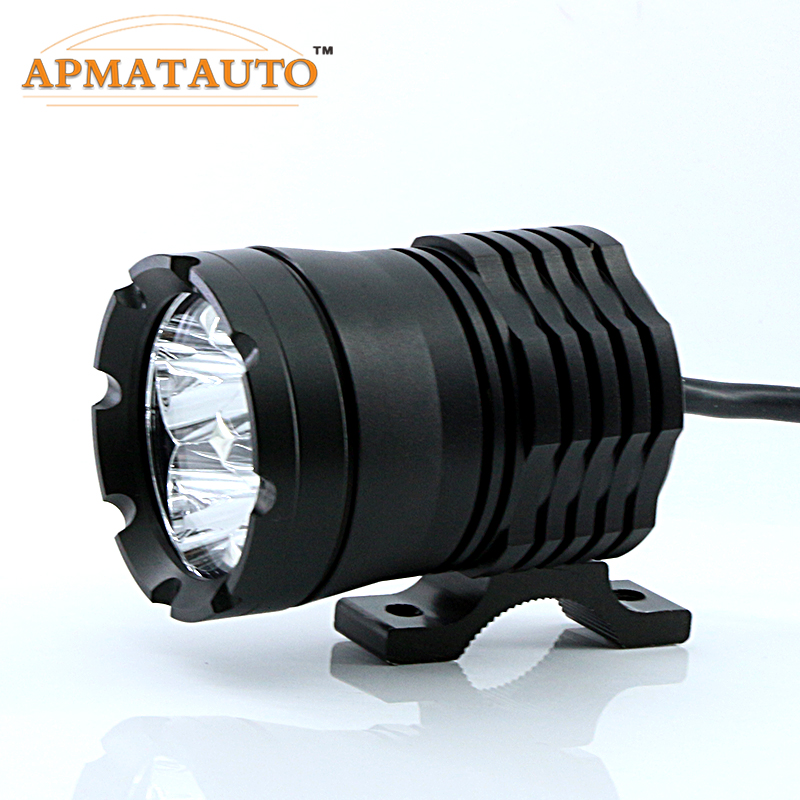 1X 60W White 6000K 4800LM With CREE Chips LED Motorcycle Headlight Fog Spot HeadLamp Spotlight Waterproof Motorbike Bulb Moto