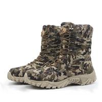 2016 Winter Desert Camouflage Combat Boots Super Light Waterproof Boots Marines Tire Bottom Anti Slip Desert