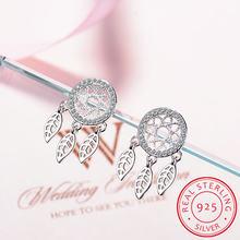 Женские серьги гвоздики «Ловец снов» из серебра 925 пробы с