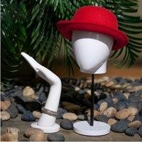 Горячая распродажа! Лучшее качество модный манекен голова с базой для шляпы дисплей