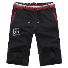 2017 Verano Nuevos Cortocircuitos Ocasionales Homme de Punto Flojo Bermuda masculina Ventilar Cintura Elástica Pantalones Cortos Hombre Deporte
