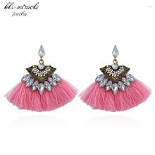 bls-miracle fashion jewelry accessories Bohemia crystal  sector mixcolor tassel dangle drop earring best femme gift E479