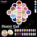 CANNI Starry Nail Glitter Gel Professional Nail Art Salon Recommended 51203 24 Glitter Pearl Color Soak Off UV LED Painting Gel