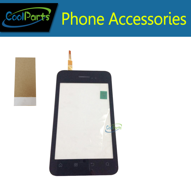 1PC /Lot High Quality For Fly IQ 255 IQ255 Touch Screen Digitizer Touch Panel Lens Glass Replacement Part With Tape White Color