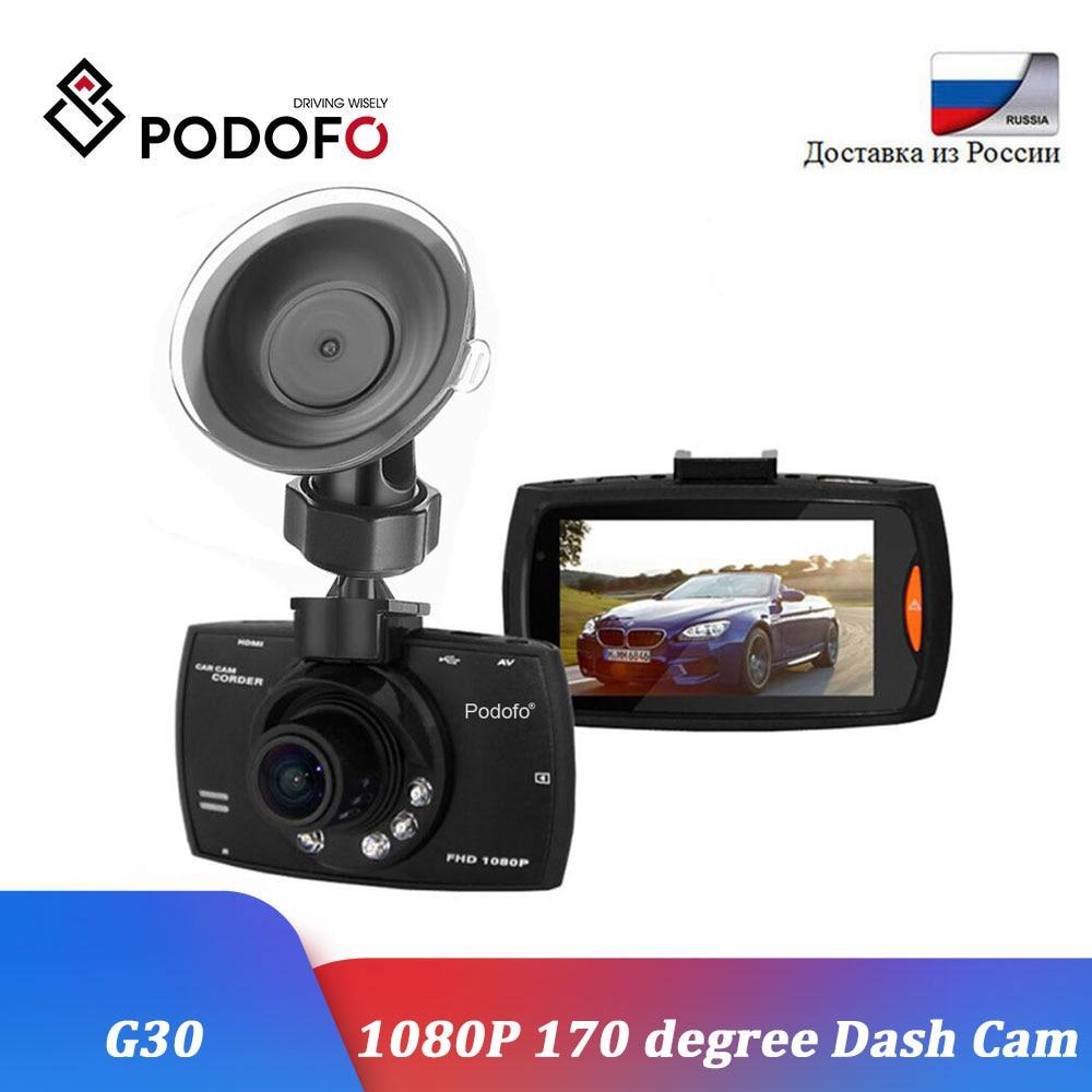 Podofo Car DVR Camera Recording Dashcam Night-Vision 170-Degree 1080P Full-Hd G30 G-Sensor