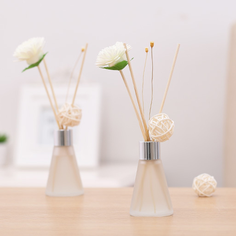50ml Essential Oil Set Frosted Bottle Design Rose/lemon/Lily/lavender/ Fragrance Reed Diffuser Sticks For Party Home Decoration