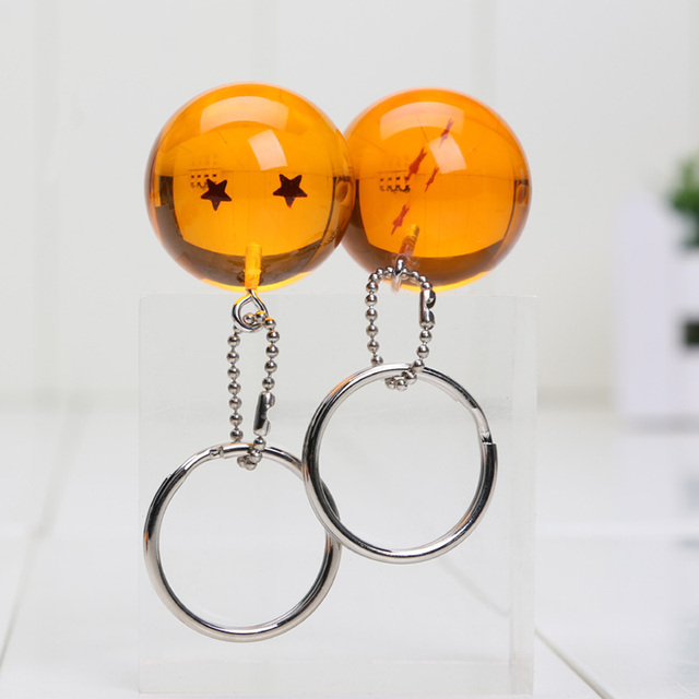 7Pcs 2.5cm Dragon Ball Z raktų pakabukas