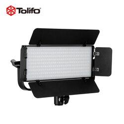 Tolifo GK-30B Bi-color Temperature 2.4G Wirelesss Remote Control LED Video Camera Light with Barndoors and U Yoke Mount for DSLR