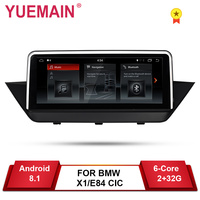 YUEMAIN Android 8.1 Car DVD GPS Player For BMW X1 E84 2009 2015 CIC Navigation Auto Raido Multimedia iDrive 2GB+32GB Camera