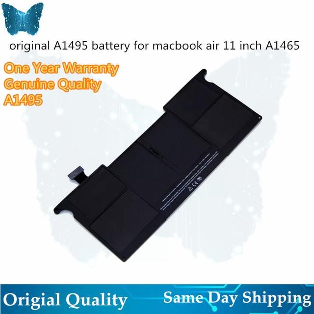 Echte Laptop 39Wh 7,6 V A1495 Batterie Für MacBook Air A1465 batterie A1370 11 zoll Mid2011 2012 2013 Frühen 2014 2015