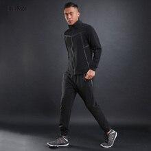 Dlixzi бренд осень Для мужчин спортивные костюмы одежда с длинным рукавом Стенд воротник Jogger Спортивный костюм модный Комплект Тонкий молнии спортсмен носить Костюмы