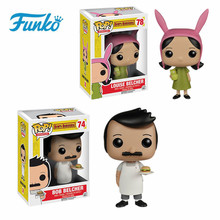 Funko POP Animation Series: Bobs Burgers #78 Louise Cute Vinyl Dolls #74 Bob Model Toys Children Birthday Action & Figure Gift