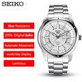 Seiko 5 100% оригинальные мужские часы модные деловые часы водонепроницаемые светящиеся мужские наручные часы