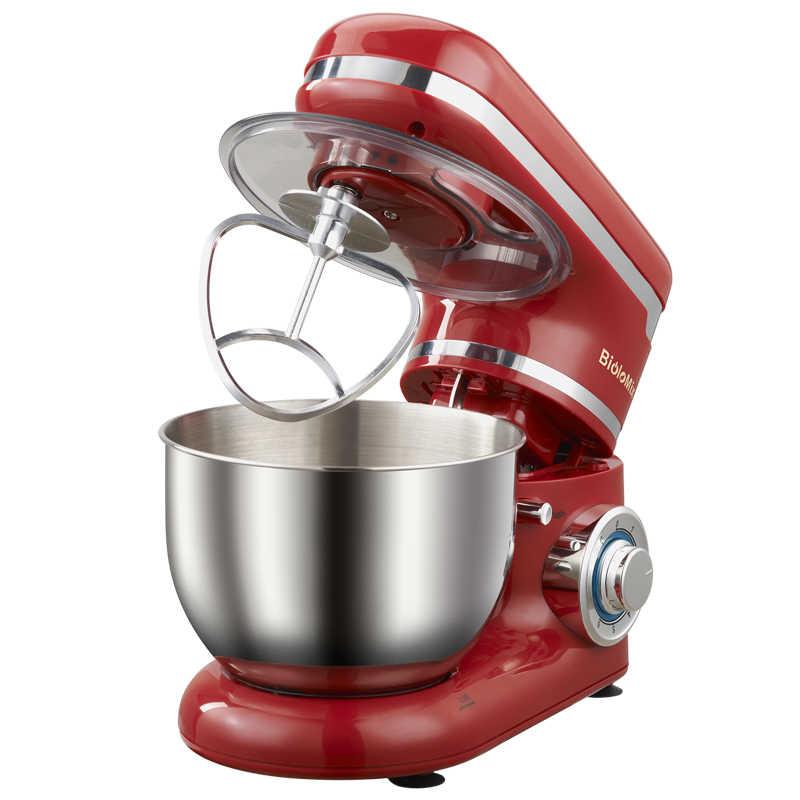 Tazón de acero inoxidable 4L 1200W 6 velocidades de cocina de hogar soporte eléctrico mezclador batidor de huevos masa batidora de crema aparato