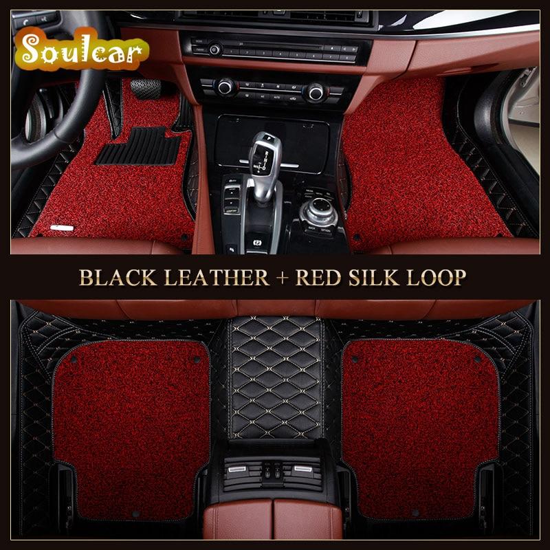 Custom fit Car floor mats for TOYOTA RAV4 Highlander Alphard Corolla YARIS 2008-2017 car floor foot carpet liners mats