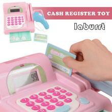 Прочная кассовая игрушка-ролевые игры обучающая игрушка кассовый аппарат со сканером, звуком, музыкой, микрофоном, калькулятором, Play Mo