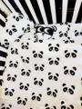 5 unids/set colorcartoon cotton baby bedding set classic negro blanco panda funda de almohada cubierta del edredón cuna cuna de hoja suave beddin