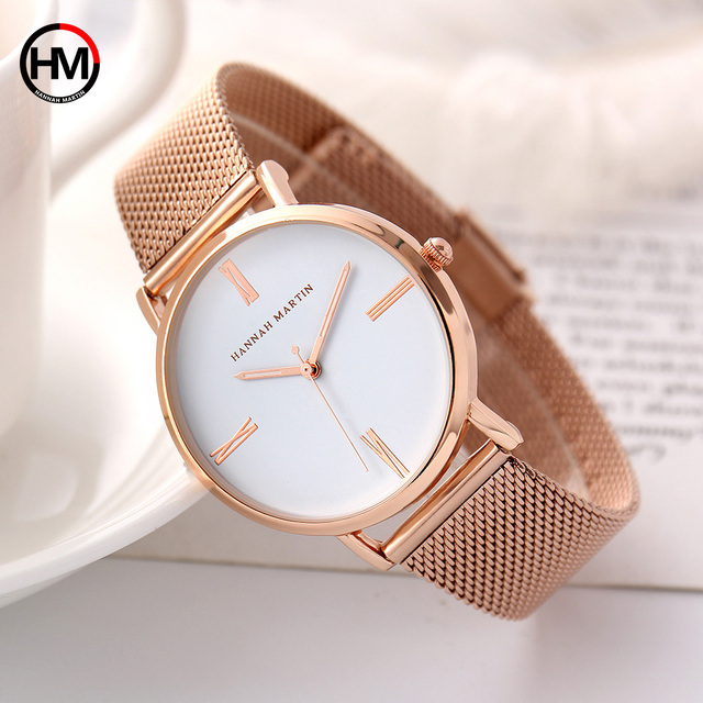 Women Bracelet Watches Luxury Rose Gold Brand Women Dress Watch Steel Mesh Femal