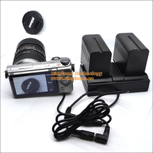 NP-F970 Battery Dual Crable Supply Power for Nikon Canon Panasonic Sony Camera / Camcorder / Monitor / Lighting & More Devices