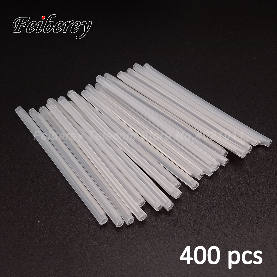 400 Pcs 40/45/60mm FTTH Optical Fiber Splice Sleeves 60mm Heat Shrink Tubing 40mm Fiber Optic Fusion Splicing Tools