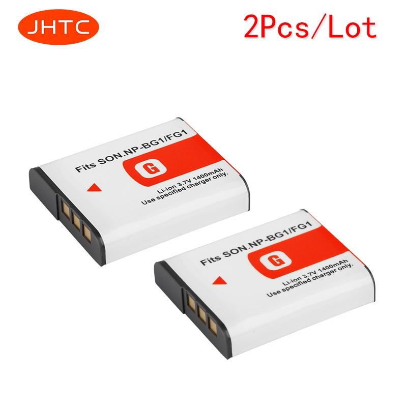 цена на JHTC 2Pcs/lot 1400mAh NP-BG1 NP BG1 Battery For SONY Cyber-shot DSC-H3 DSC-H7 DSC-H9 DSC-H10 DSC-H20 DSC-H50 DSC-H55 DSC-H70