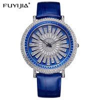 Новые женские часы Женское платье кварцевые часы бренд ремень студент браслет часы водостойкие розовое золото алмаз Леди стол женский